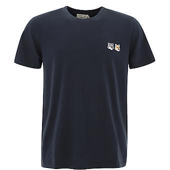 Maison Kitsuné Bu00103kj0008anthracite Men's Grey Cotton T-shirt