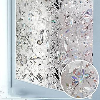 Privacy Window Film, 3d Static Decoration Self Adhesive, Uv Blocking Heat