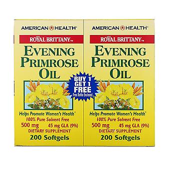 American Health, Royal Brittany, Aceite de onagra, 500 mg, 2 botellas, 200 So