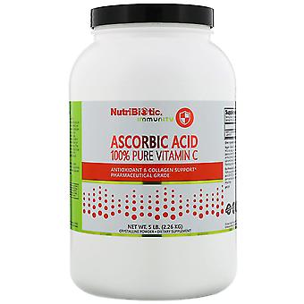 NutriBiotic, Immuniteit, Ascorbinezuur, 100% pure vitamine C, kristallijn poeder, 5