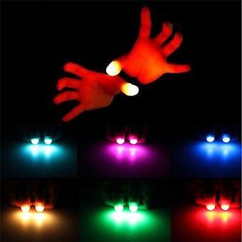 親指はライトアップおもちゃ子供の魔法のトリックの小道具を導いた - 面白い点滅指