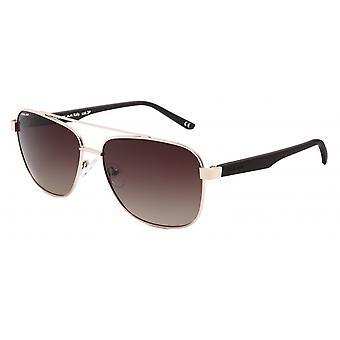 Sunglasses Unisex Aviator polarized gold/matt brown (P75702)