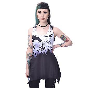 Vixen - crow night-lace panel vest top