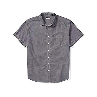Essentials Men's Big & Tall Kortärmad Chambray Shirt passar av DXL, Gr...