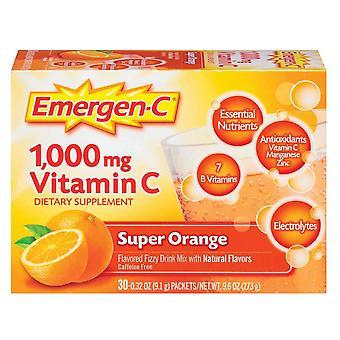 Emergen-c 1000 mg vitamin c, super orange, 30 ea *