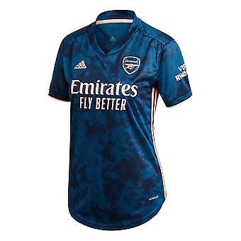 adidas Arsenal 2020/21 Womens Ladies Third Football Jersey Shirt Blue