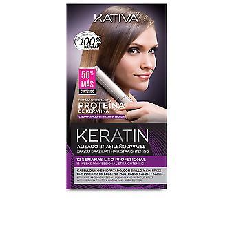 Kativa Keratin Alisado Brasileño Express Set 3 Pz För Kvinnor