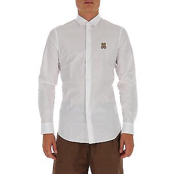 Moschino 020570361001 Herren's weißes Baumwollhemd