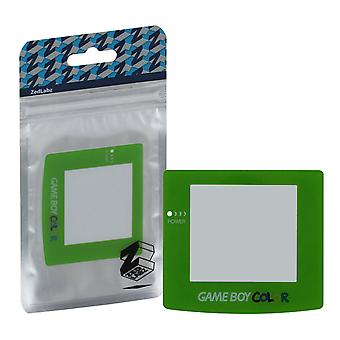 Replacement screen lens plastic cover for nintendo game boy color - green
