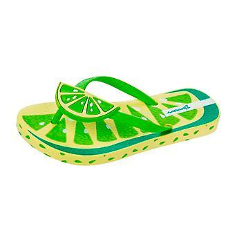 Ipanema Tutti Frutti Girls Beach Flip Flops / Sandals - Lime
