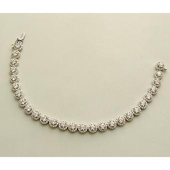 14 carat zirkonia white gold bracelet