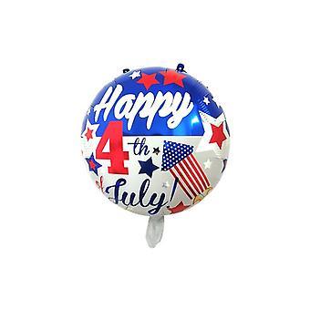 Drapeau national Ballon de jour de l'indépendance d'étoile à cinq pointes - Partie de vacances