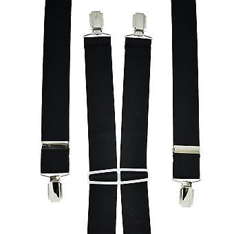 Ties Planet Plain Black Men's Trouser Braces