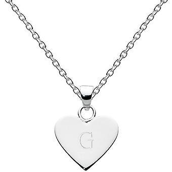 Tau Sterling Silber Dinky Herz Alphabet Anhänger 9091HPG013