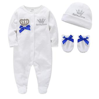 Boy Pijamas Fille With Hats Gloves, Cotton Breathable Soft Rope Newborn