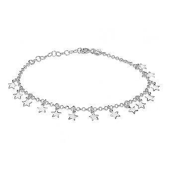 Evighed sterling sølv dangly stjerne armbånd