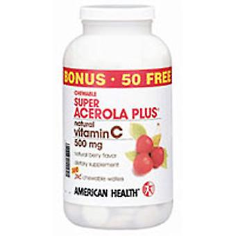 American Health Super Acerola, 500 mgs, 300 wafers