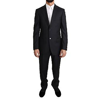 Z ZEGNA Blue Striped Two Piece 2 Button Wool Suit