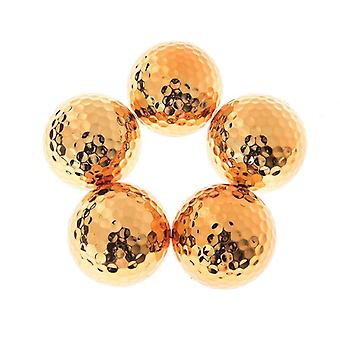 Plated Golf Ball Fancy Match Opening Goal Best Gift Durable Construction For Sporting Events
