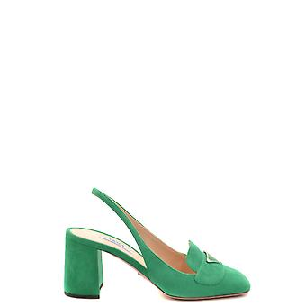 Prada Ezbc021056 Women's Beige Suede Sandals
