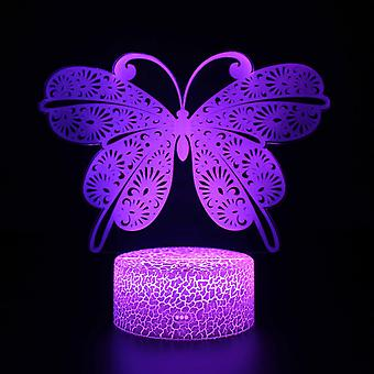 3D Touch Light Night 7 colors with remote control - Papillon #497