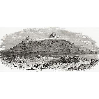 Mount Ararat Turkey seen from the plain of Erivan or Yerevan Armenia after a painting by J Baillie Fraser From The Imperial Bible Dictionary published 1889 PosterPrint