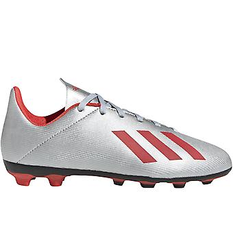 adidas Performance Boys X 19.4 Flexible Ground Training Football Boots - Silver