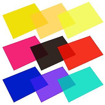 9 Stück Gelfilter transparente Farbfolie Kunststoffplatten Korrektur gel Lichtfilter, 11,7 von 8,3 i