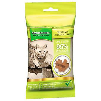 Natures Menu Cat Treats Chicken & Turkey 60 Grs (Cats , Treats , Chewy & Softer Treats )