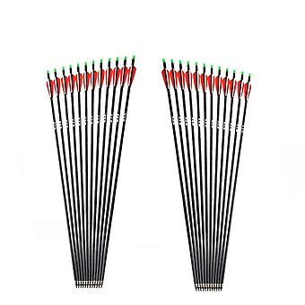 Spine Carbon Arrow With Replaceable Arrowhead Tips Nocks, Compound/recurve Bow