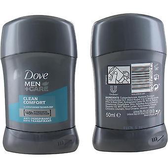 Dove Men Clean Comfort 48Hrs Protection Anti-perspirant Deodorant Stick  50ml for Men