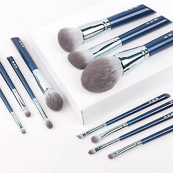 Makeup Brush The Sky Blue 11pcs Super Soft Fiber Makeup Brushes Set Face & Eye Cosmetic Pens Synthetic Hair