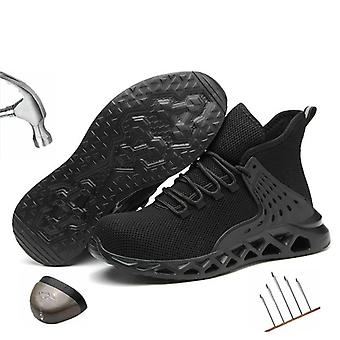 Men's Steel Toe Work Safety Shoes, Cap Protective Short Boots, Construction