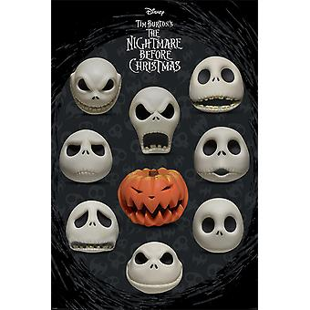 Nightmare Before Christmas Faces Poster