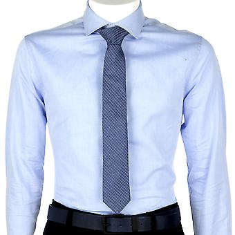 Calvin Klein Men Tie Graphic Check Blue