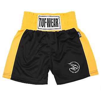 Tuf Wear Kids Junior Club Boxning Shorts Svart / Guld