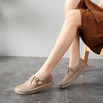 Leather Oxford Women Flat Shoes