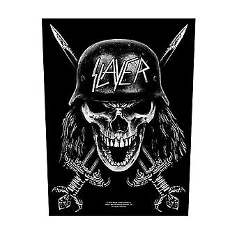 Slayer Back Patch Wehrmacht Band Logo new Official Black 36cm x 29cm