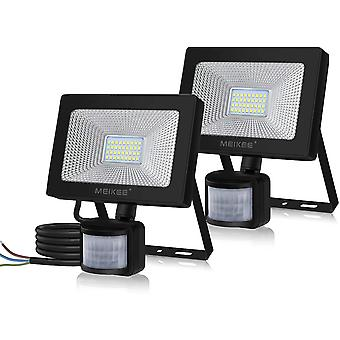 MEIKEE 30W Outdoor Security Lights with Motion Sensor Led Floodlight