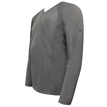 Nike ACG Mens V Neck T-Shirt Long Sleeved Top Taupe 188969 002