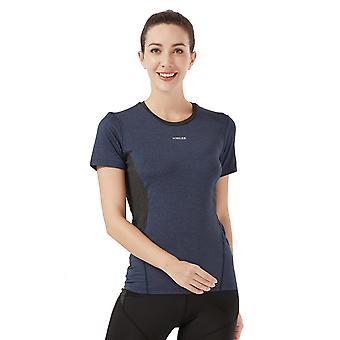 Damer Slim Yoga Fitness Sport Topp H08