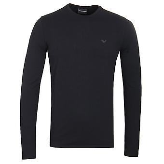 Emporio Armani Eagle Logo Long Sleeve T-Shirt - Black
