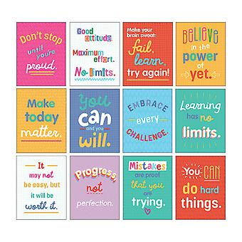 Mini Posters: Growth Mindset Quotes Poster Set, 12 Pièces