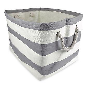 Dii Paper Bin Stripe Gray Rectangle Medium