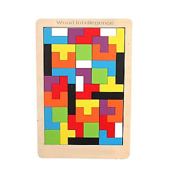 Intellectual And Educational-colorful 3d Puzzle - Wooden Toy For Pre School