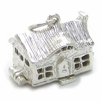 Cottage Ouverture Sterling Silver Charm .925 X 1 Cottages Homes Charms - 4736