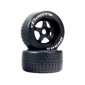 Arrma Z-ARA550073 DBoots Hoons 53/107 2.9 White Belted 5-Spoke Wheels & Tyres (2 Pieces)