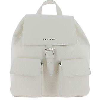 Orciani B02093softbianco Women's White Leather Backpack