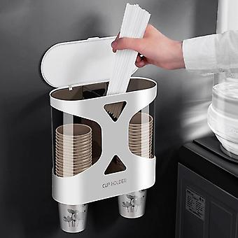Wall Mount Disposable Paper Cup Dispenser And Holder- Automatic Drop