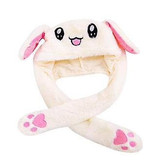 Lovely Luminous, No Light Plush Rabbit Hat, Play Toy, Up Down Moving Bunny Ears